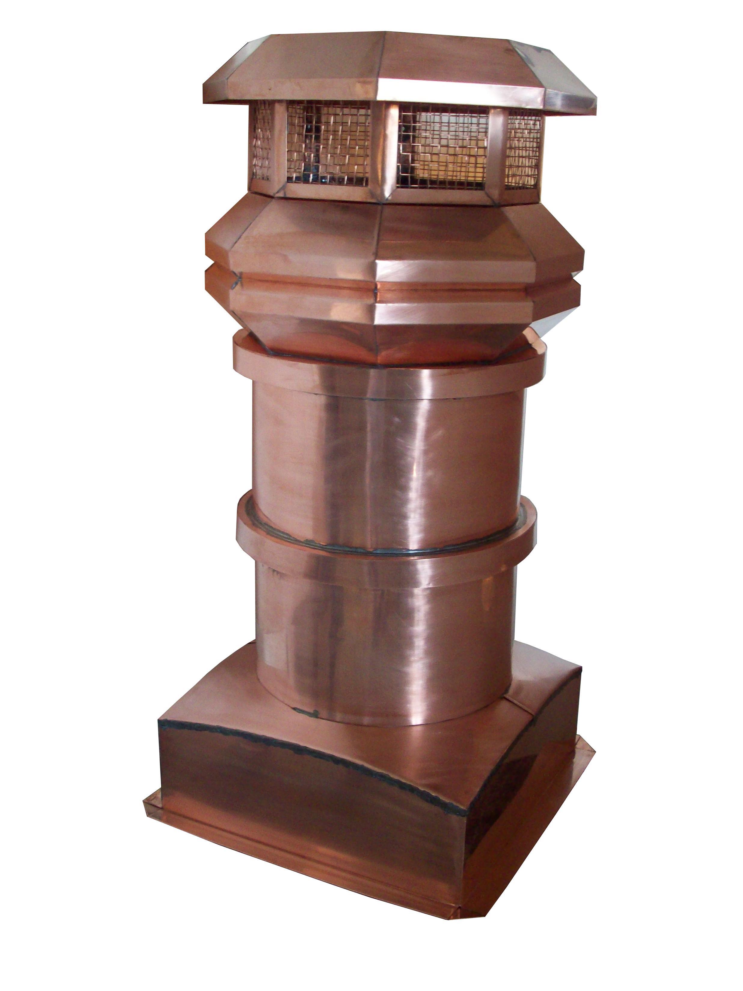 Volko Supply Provincial Copper Chimney Pots