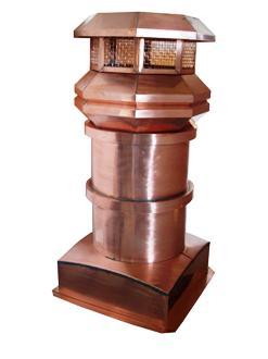 Volko Supply Copper Chimney Pots