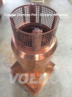 final copper chimny pot assembled
