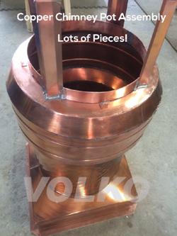 copper chimney pot fabrication