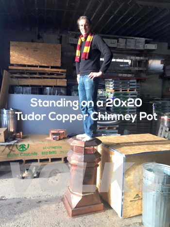 strong copper chimney pot
