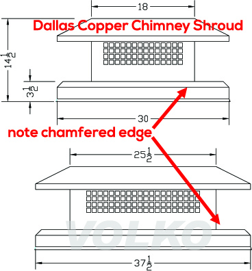 copper dallas chimney cap volko copper cap