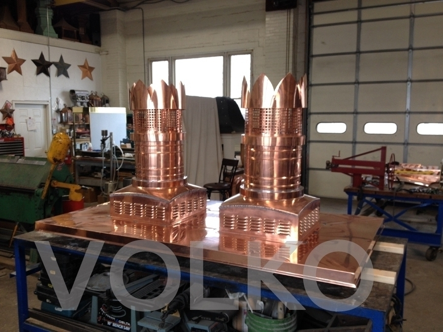 Volko Supply Edinburgh Copper Chimney Pots