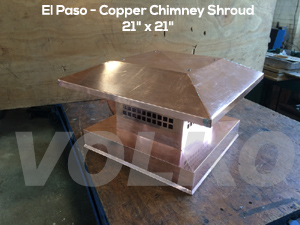 copper chimney cap copper shroud