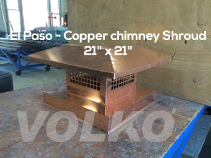 el paso chimney shroud copper