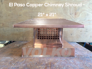 volko copper chimney shroud