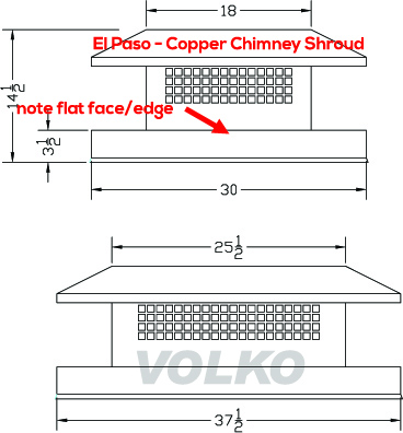 copper chimney cap schematic