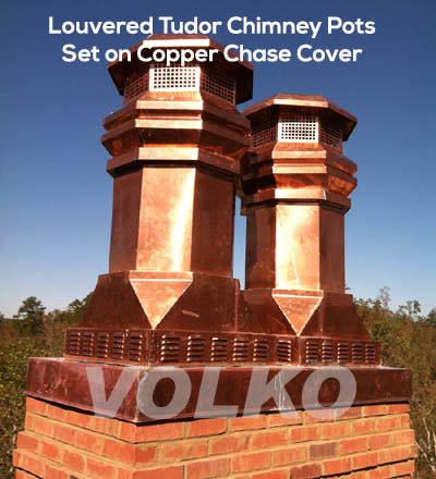 copper chimney pots for gas fireplace