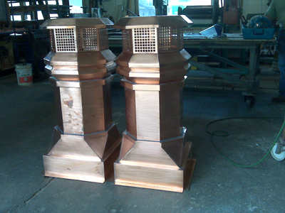 tudor copper chimney pots, chimney pot for fireplace