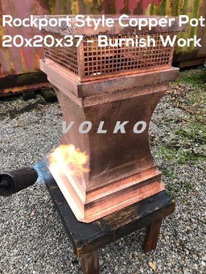 Burnished Copper chimney pot