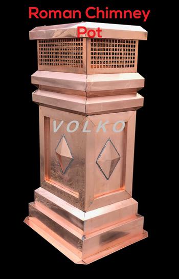 Roman Copper Chimney Pot