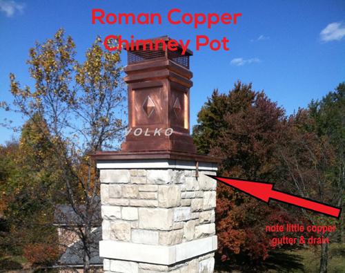 installed chimney pot