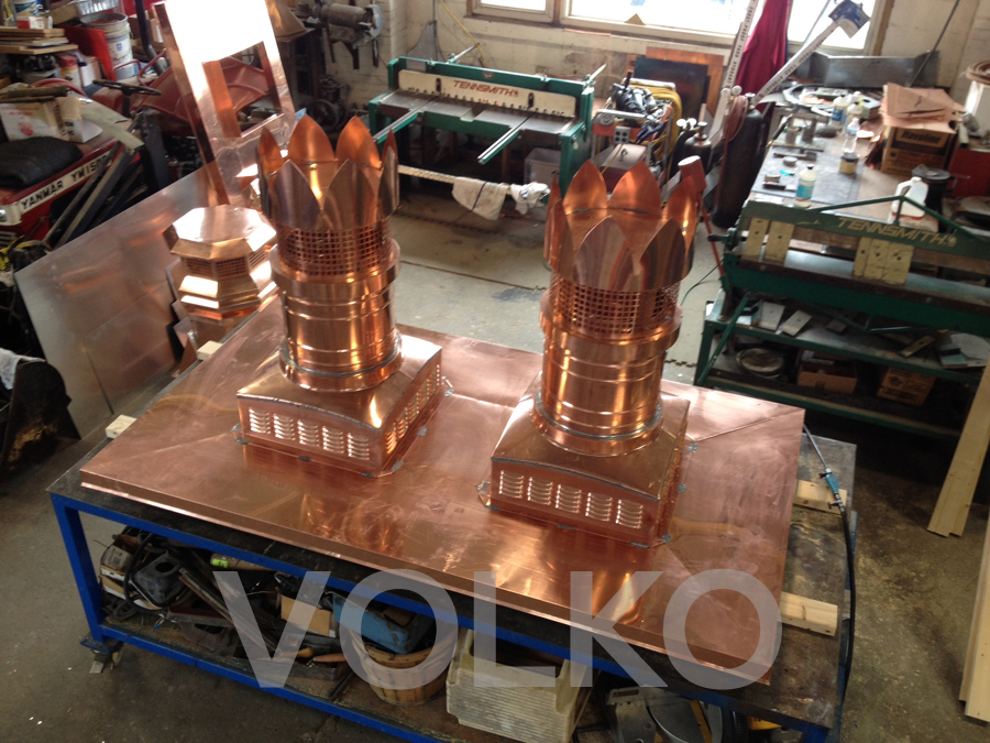 copper chimney pots and chase