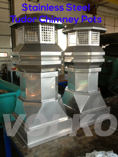 stainless steel chimney pots