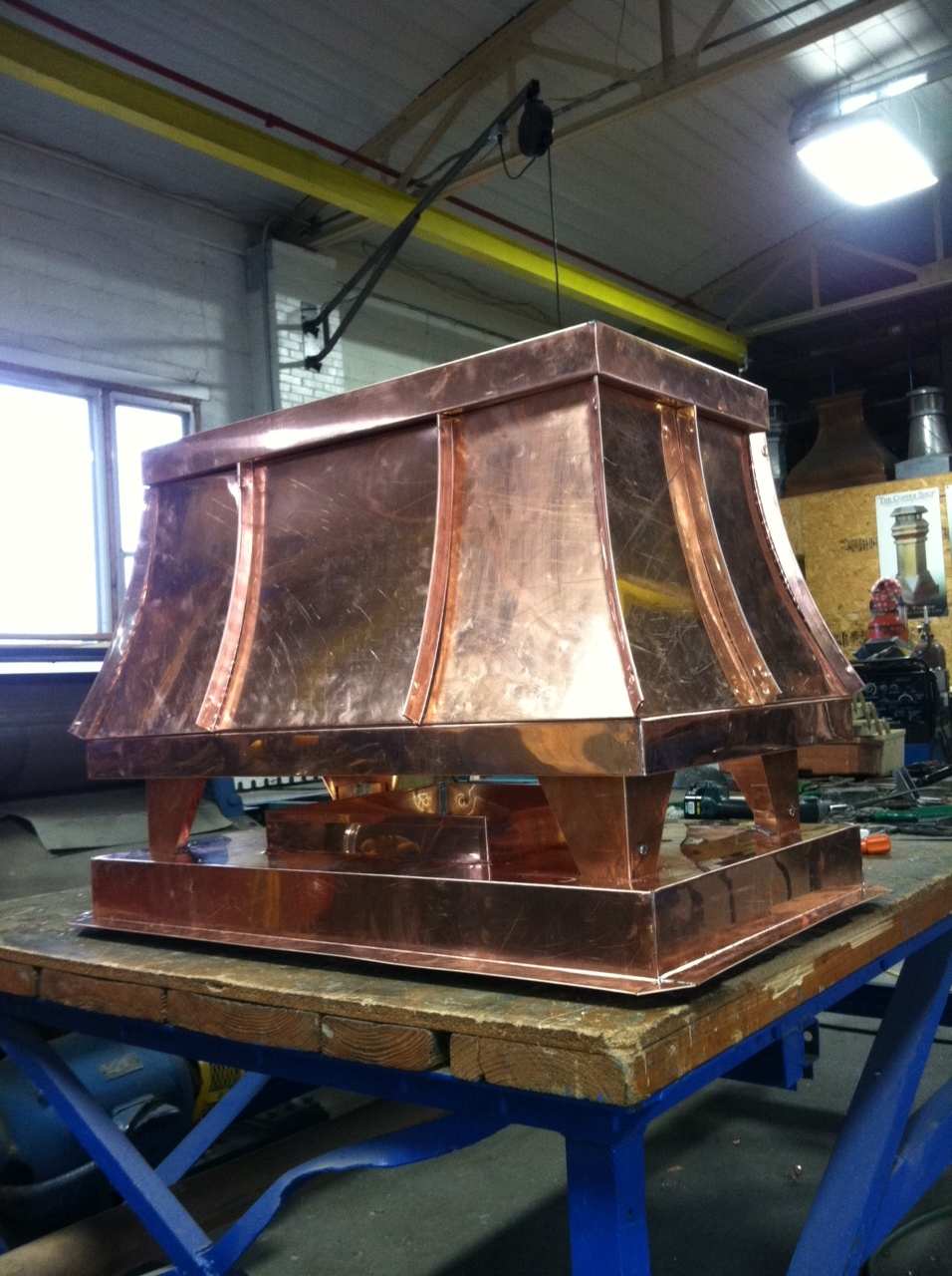 standing seam sweep copper shroud